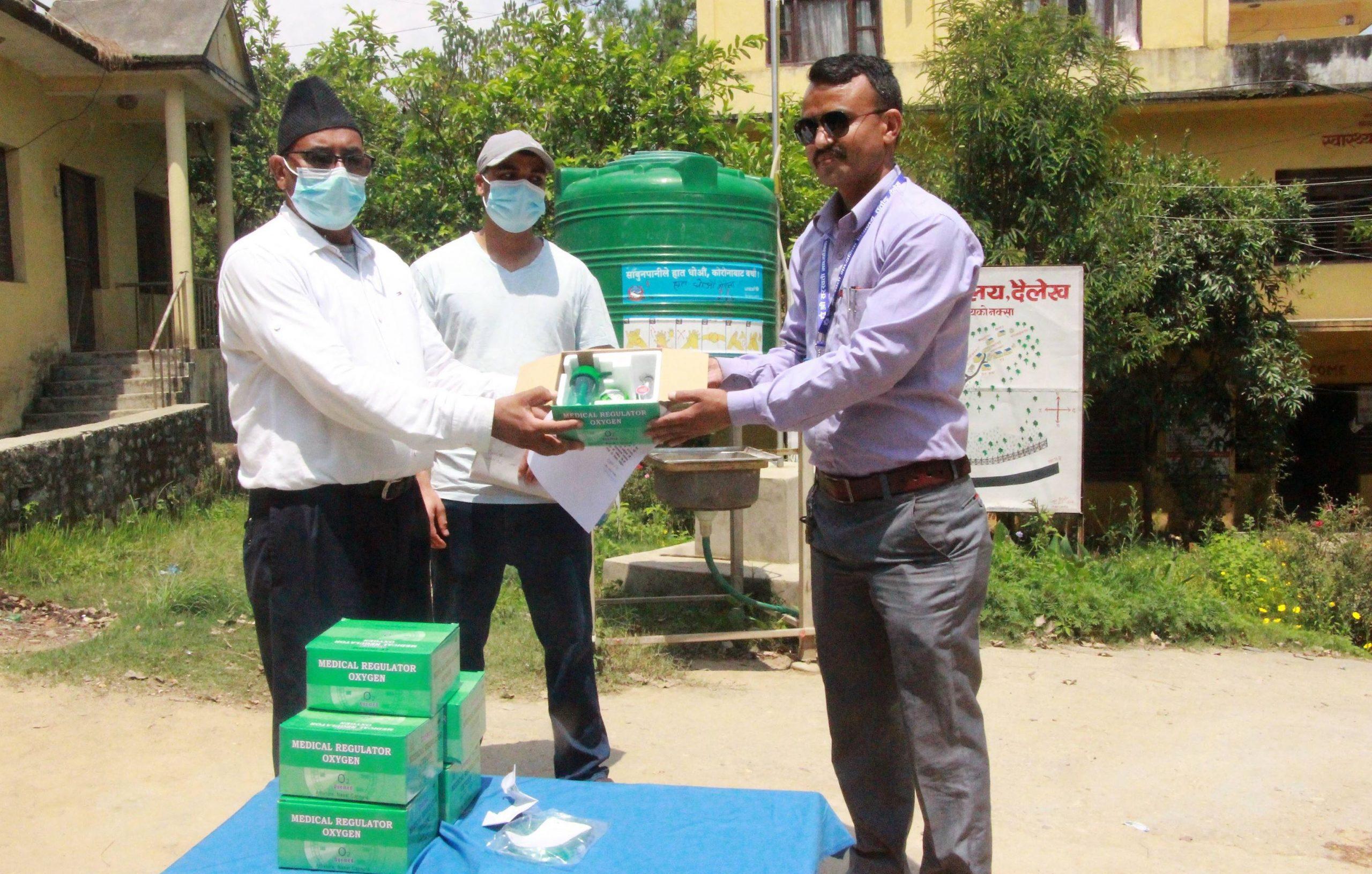 दैलेख अस्पताललाई अक्सिजन फ्लोमिटर सहयोग