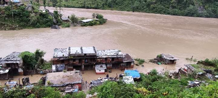 रामाघाट बस्ती डुवानमा